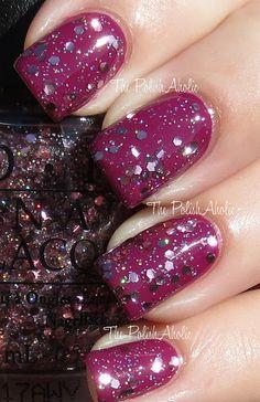 Pink Yet Lavender glitter over Anti-Bleak. #MariahCareybyOPI
