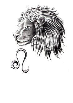 Tattoo design - Horoscope - Leo