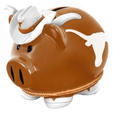 Texas Longhorns Resin Large Thematic Piggy Bank