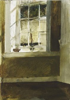 Andrew Newell Wyeth (American, 1917-2009) - Groundhog Day Study (Kitchen Window), c.1958-59