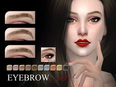 The Sims Resource: Eyebrows 34F by S-Club • Sims 4 Downloads