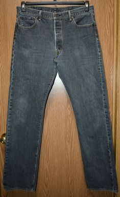 b7520efb646 Mens Faded Black Levi's 501 Button Fly Jeans Size 36 x 34 good #fashion #