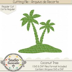 Coconut Tree, Coconut, Tree, Palmeira, palmeiras, coco, côco, tropical, água de coco, coconut water, Flip Flops, chinelos, calor, chinelo, verão, summer, praia, beach, warm, hot, season,  arquivo de recorte, corte regular, regular cut, svg, dxf, png, Studio Ilustrado, Silhouette, cutting file, cutting, cricut, scan n cut.