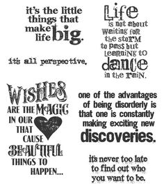 Rubber stamps/ I have to make something with the disorderly saying lol/ so true/ Cling Rubber Stamp Set-Good