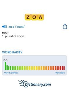 The best word I've seen today on Words with Friends is 'zoa'. Can you come up with a better one?