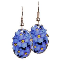 Blue Wildflowers Earring,Blue wildflowers, flower, flowers, blossoms, bloom, nature, flower images, flower images blue, blue, garden, garden images, pictures, flower photography, flower pics,floral,botanic