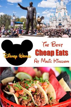The Best Cheap Eats at Magic Kingdom at Disney World. Least expensive meals and snacks at The Magic Kingdom Park at Disney World. Meals You can split at The Magic Kingdom. Plus, many money-saving tips. Magic Kingdom Orlando, Magic Kingdom Food, Disney World Magic Kingdom, Magic Kingdom Dining, Magic Kingdom Christmas, Disney Christmas, Disney World Vacation Planning, Walt Disney World Vacations, Disney Planning