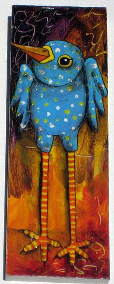 Whimsical Bird Painting by damadiva on Etsy, $45.00