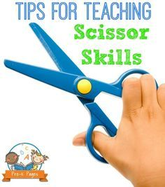 Tips for Teaching Scissor Cutting Skills. Are your kids ready to cut with scissors? Learn my best tricks for helping kids in preschool or kindergarten learn how to cut and use scissors - the right way!