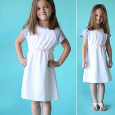 Learn how to sew this raglan sleeve play dress for a little girl with a free PDF sewing pattern in multiple sizes and easy sewing tutorial.