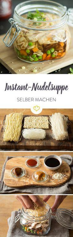 Instant-Nudelsuppe klingt für dich nach einem ziemlich ungesunden Snack? Dann kennst du noch nicht diese DIY-Version. Gleich ausprobieren.