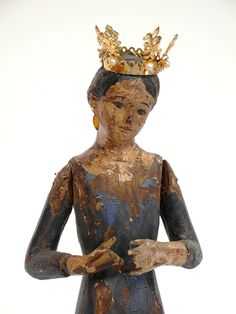 Mexican Santo Of The Virgin Of the Annunciation 6in 1.15