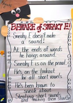 I really like this because when its time to do spelling this is a great reminder for the letter E.