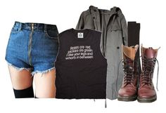 """""""Bring back the good time"""" by platinum-smoker on Polyvore featuring Zara, Maria La Rosa, DrMartens, shorts, jacket, shirt and socks"""