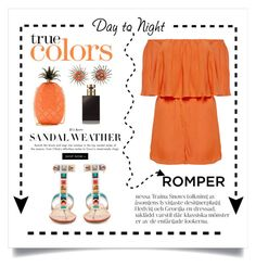 """Day to Night  Romper"" by conch-lady ❤ liked on Polyvore featuring Alice + Olivia, Fendi, Valentino, DayToNight, romper and summersandals"
