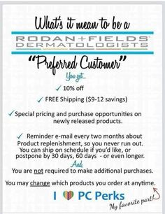 Join me as a Preferred Customer before midnight PST tomorrow night 2/28/15 and receive a free gift. Contact me for details. We are the 4th largest ‪#‎skincare brand in the #USA !  Now avail in #canada ‪#‎changinglives‬ ‪#‎rodanandfields‬ #beauty #beautyblogger #beautyeditors #allure #harpersbazaar #fortune #self #proactivdoctors  link in bio