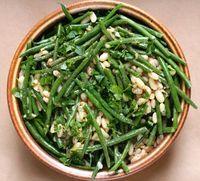 Haricot verts with white beans and shallot vinaigrette