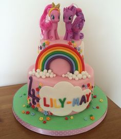 My little pony rainbow 4th birthday cake
