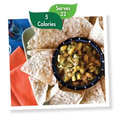 Mango-Melon Salsa - with pineapple, fresh mint, chiles, ginger -- This flavor explosion easily transforms simple entrées into gourmet meals. 1 cup = 1 fruit serving.