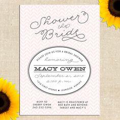 Chevron Bridal Shower Invitation DIY PRINTABLE