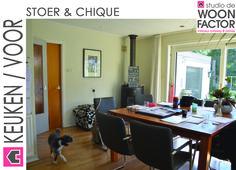 De situatie van de keuken voordat het interieurontwerp/advies van studio de WOON FACTOR is uitgevoerd.