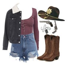 """""""The Walking Dead OC"""" by demiwitch-of-mischief ❤ liked on Polyvore featuring Free People, Topshop and Laredo"""