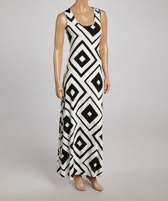 Black & White Diamond Maxi Dress