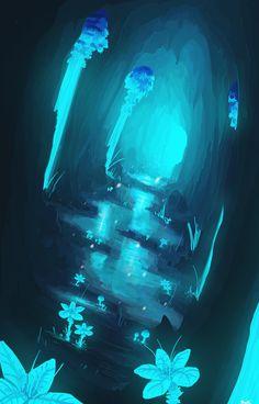 Waterfall. by bloodydragon117