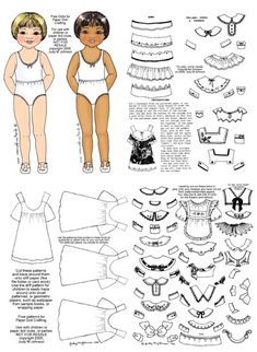 Paper doll free download.. So many collar!