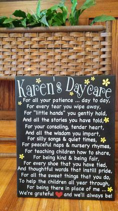 A mothers thank you wood signs christmas gifts and canvases daycare providers heartfelt handpainted sign to show her how much shes appreciated personalized just for you negle Images