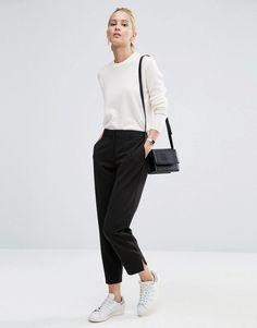 Immagine 1 di ASOS - Pantaloni slim al polpaccio
