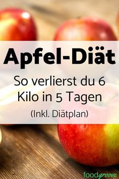 Apple diet: Lose 6 kilos in 5 days (incl. Diet plan)- Apfel-Diät: 6 Kilo in 5 Tagen abnehmen (Inkl. Diätplan) Discover the apple diet and make the pounds tumble. Find out how the diet works, why it works and get a free diet plan. Diet And Nutrition, Complete Nutrition, Nutrition Guide, Nutrition Plans, Diet Plans To Lose Weight, How To Lose Weight Fast, Fast Weight Loss, Healthy Weight Loss, Free Diet Plans