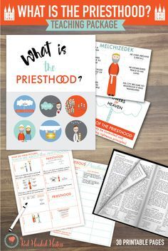 What is the Priesthood?  June Come Follow Me teaching package!  This package is filled with illustrated scriptures that teach doctrines and principles about the Priesthood.  Great study sheets too!  #ldsyoungwomen