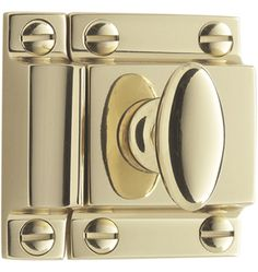 Small Oval Cupboard Latch Solid Brass - available in seven finishes - $25 - Rejuvenation.com
