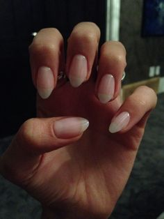 Natural looking almond gel nails