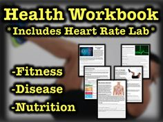 Health Workbook w/ Heart Rate Lab (Fitness, Disease, Nutrition) Science Lessons, Teaching Science, Teaching Resources, Science Experiments, Teaching Ideas, Key Health, Health And Wellness, Heart Health, Reflection Questions