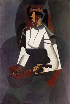 JUAN GRIS    Style: Cubism  Lived: March 23, 1887 - May 11, 1927 (20th century)  Nationality: Spain  BIOGRAPHY  QUOTES  PAINTINGS  BUY  WOMAN WITH A MANDOLIN