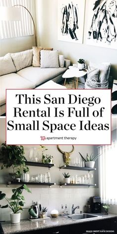 This 500-square-foot San Diego studio hides a handful of smart small space ideas. | House Tours by Apartment Therapy #housetours #hometours #studio #studioapartment #smallspaces #smallspacehacks #rentaldecor #apartmentdecorating #modern #moderndecor Studio Apartment Living, Apartment Therapy, Apartment Ideas, Studio Apt, Rental Decorating, Decorating Small Spaces, Decorating Ideas, San Diego, Comfortable Couch