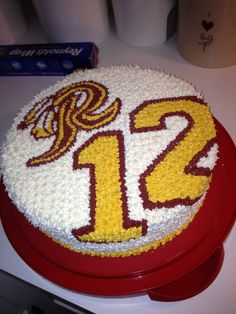 Redskins birthday cake
