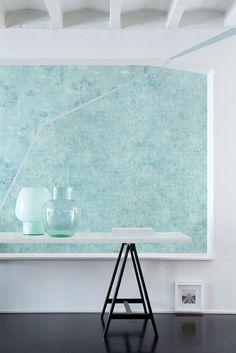 Textures - Bitumen - 11 Horizon and Coating - 13 Aqua -- Capturing Multidimensional Structures-- #textures #crackle #mosaic #gravel #glamour #modern #printedpatterns #wallpaper