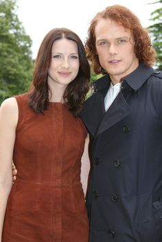 Sam and Caitriona  Season 2 Press Day  Aug. 2015