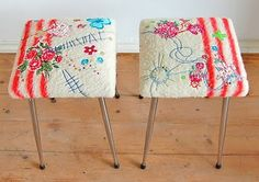Beautiful stools, too pretty to sit on?