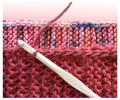 TECHknitting: A neat little edging for garter stitch