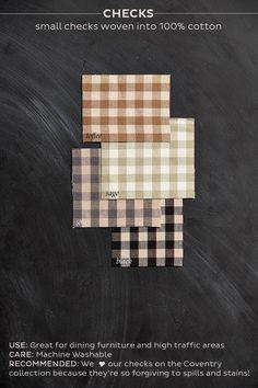 Ballard Designs check fabrics