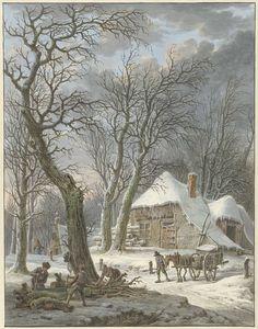 Winterlandschap, Pieter Pietersz. Barbiers, 1759 - 1842
