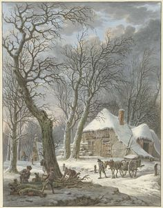 Winterlandschap, Pieter Pietersz. Barbiers, 1759 - 1842
