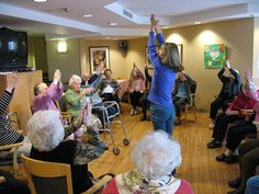 I don't know about you, but I love incorporating some sit-er-cise after the hello song in music therapy groups when I work with older adults. Without fail, it doesn't take long for my r…