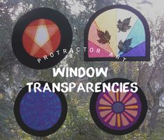window transparencies with kite paper