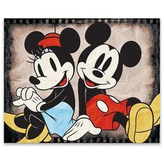 Mickey and Minnie Sitting Canvas Art Print ($24) ❤ liked on Polyvore featuring home, home decor, wall art, canvas home decor, stretched canvas, disney wall art, motivational wall art and motivational canvas wall art