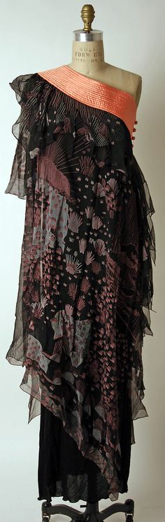 Evening dress  Zandra Rhodes  (British, born 1940)  Date: 1974 Culture: British Medium: silk, acetate